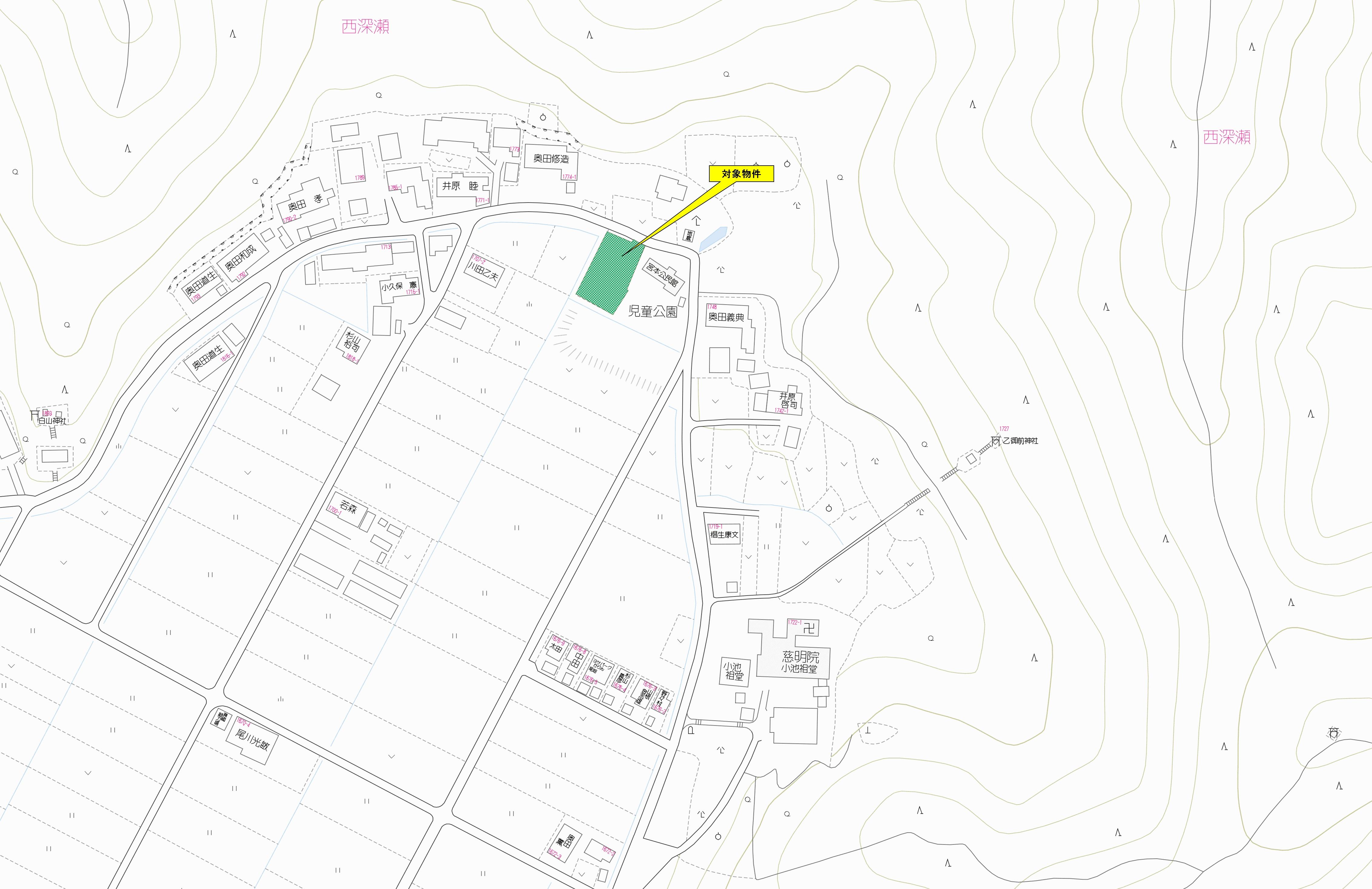 山県市西深瀬_位置図