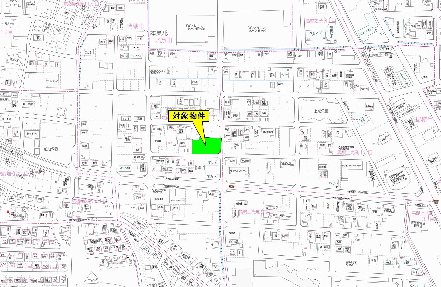 瑞穂市馬場前畑町位置図